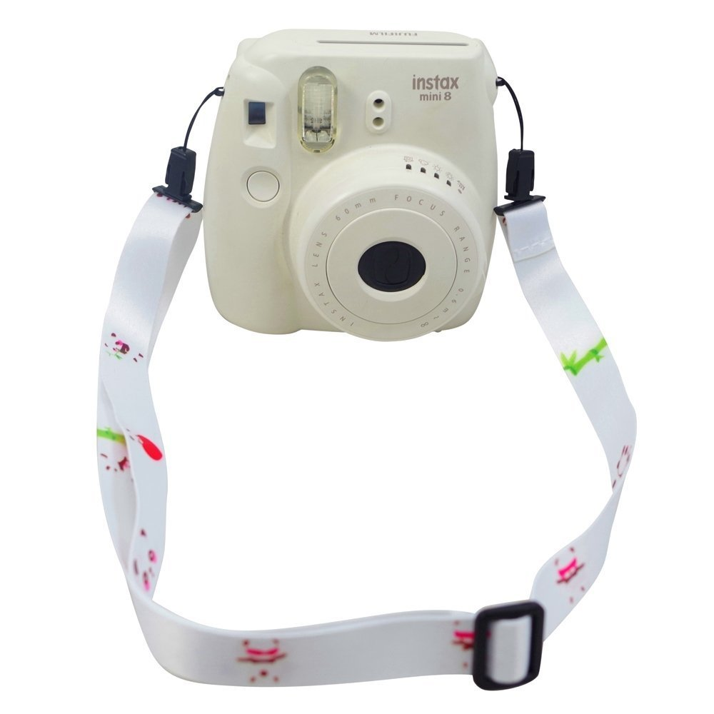Lalonovo Camera Strap Professional Shoulder Strap for Fujifilm Instax Mini 25/ 50/ 7/ 8/ 90 Instant Film Camera (Panda)