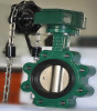 ductile iron gear operated flanged butterfly valve dn65