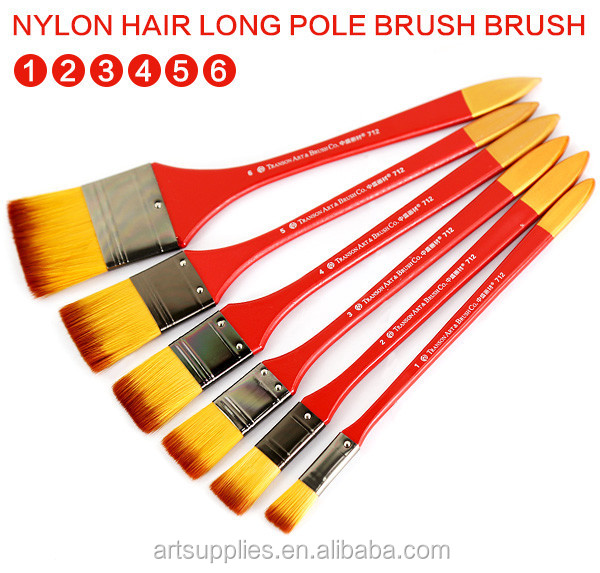 Fine Transon Cheapest Nylon Hair Wash Paint Brush, Wooden Handle with High Quality Artist Brushes