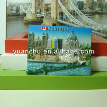 resin 3d landscape fridge magnets for prague souvenir fridge magnet