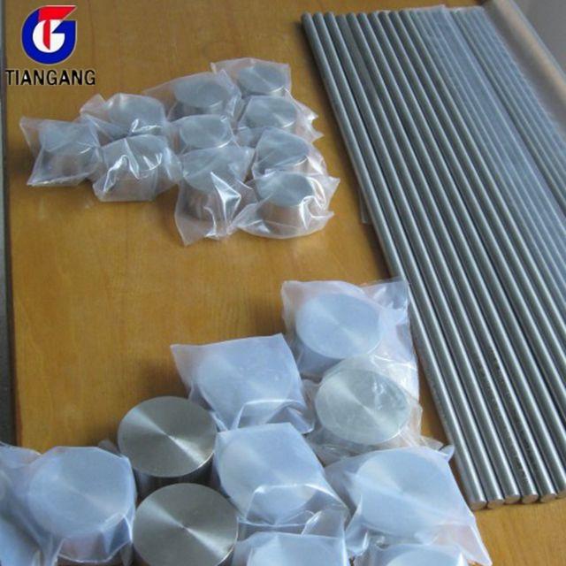 Cina fornitore di ASTM B338 Titanio Grado 5 Barre Tonde