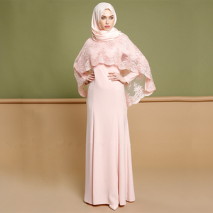 islamic muslim clothing dubai lace 2 pieces abaya set arab kaftan dress