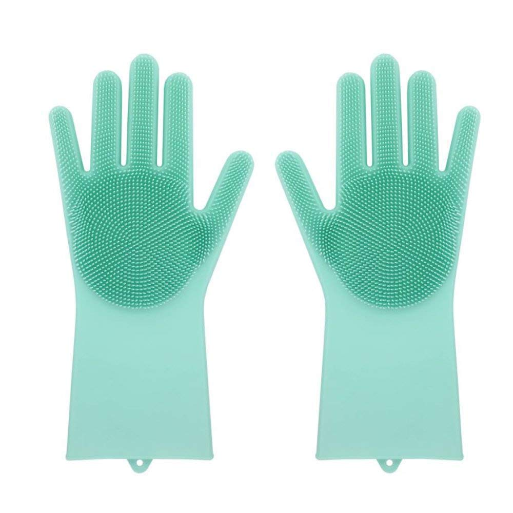Lywey Magic Reusable Silicone Gloves Cleaning Brush Scrubber Gloves Heat Resistant, All Season