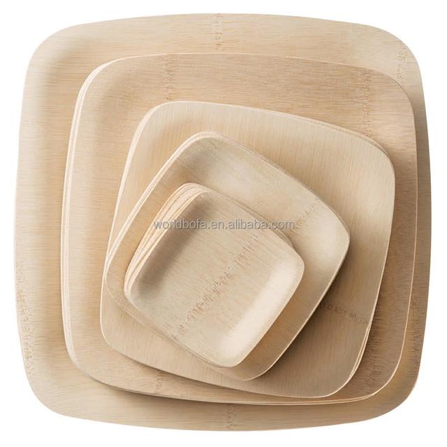 Bamboo Wooden Disposable Rectangular Plates wooden set  sc 1 st  Alibaba & Buy Cheap China disposable plate rectangular Products Find China ...