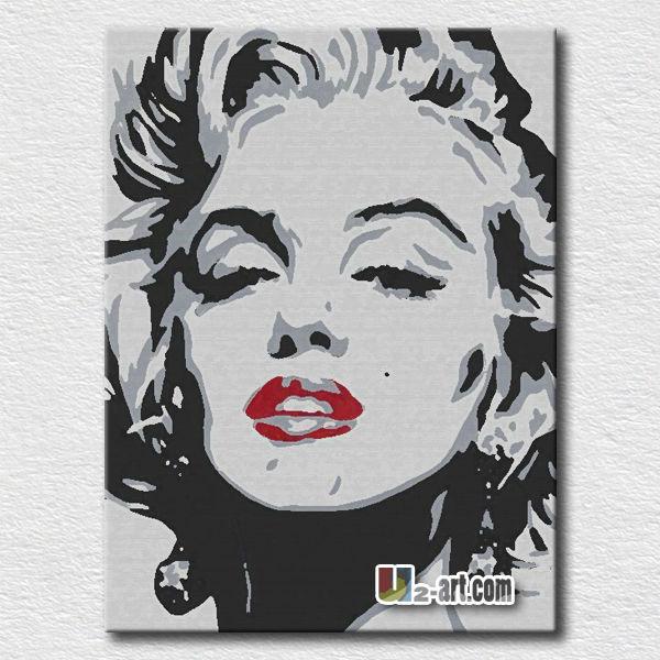 Caliente sexy Marilyn Monroe pop pintura arte de pared-Pintura y ...