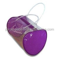 high quality purple rounded clear handle umbrella pvc bag