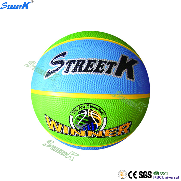 STREETK 2016 best selling promotional colorful ball rubber basketball