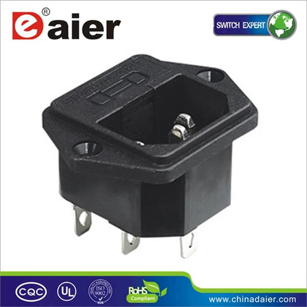 Ac dc power adapter 4 pin connector dual double male electrical <strong>plug</strong>