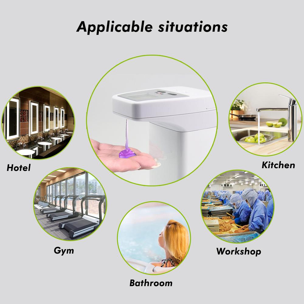 Sin contacto de dispensador de jabón automático montado en la pared de la mano de acero inoxidable de espuma líquido sensor de movimiento 300ml