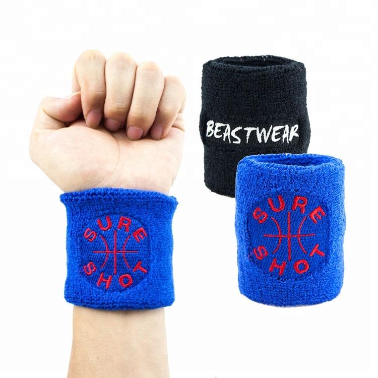 Kingspeed Breathable Organic Cotton Embroidery Sweat Band Custom Logo Wrist Band High Quality Sweatband