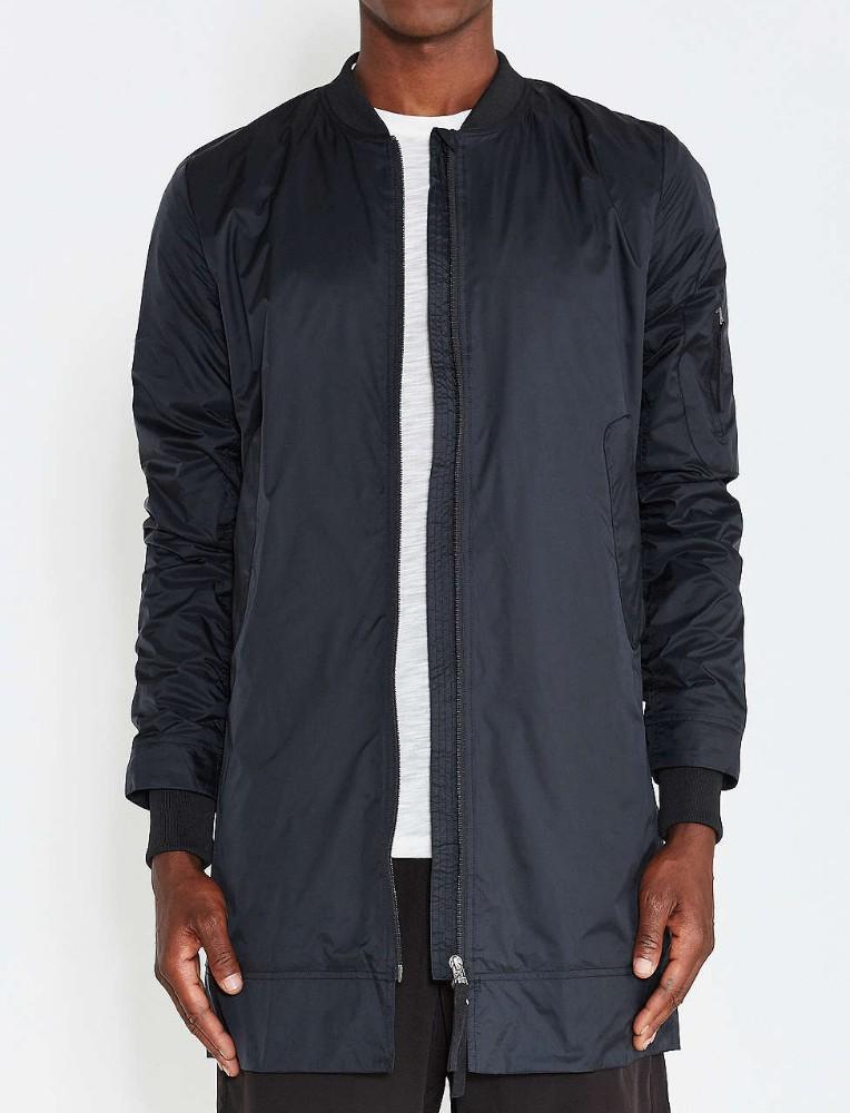 Mens Longline Bomber Jacket Wholesale Double Zip Design Winter ...