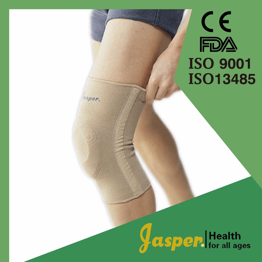 JASPER Knitting Nylon Fabric Knee Support With Silicon Pad