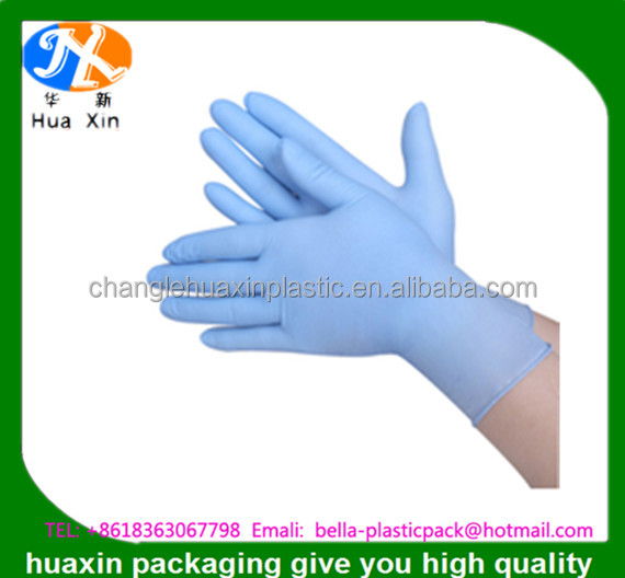 Sterile medical examination color surgical gloves latex for hospital