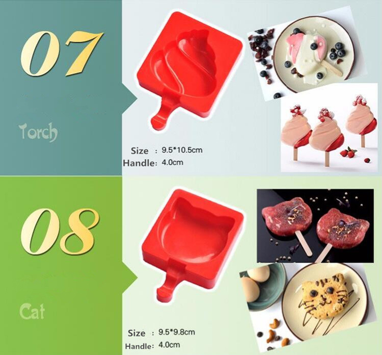 Customized Fda Approved Food Grade Rectangle Silicone Ice