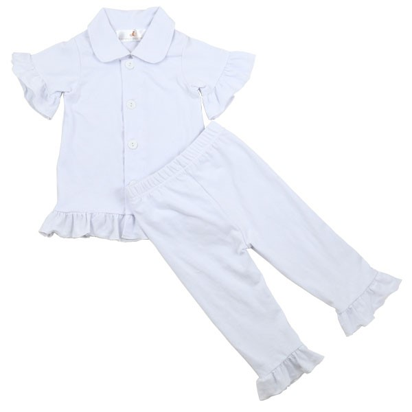 Comfortable Sleeping Wear Cotton Pajama Pure White Clothing