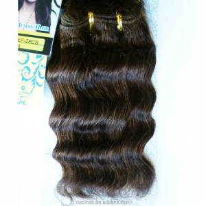 Adorable 100% human hair extention india hair weave deep wave 2pcs hair bulk package for black woman