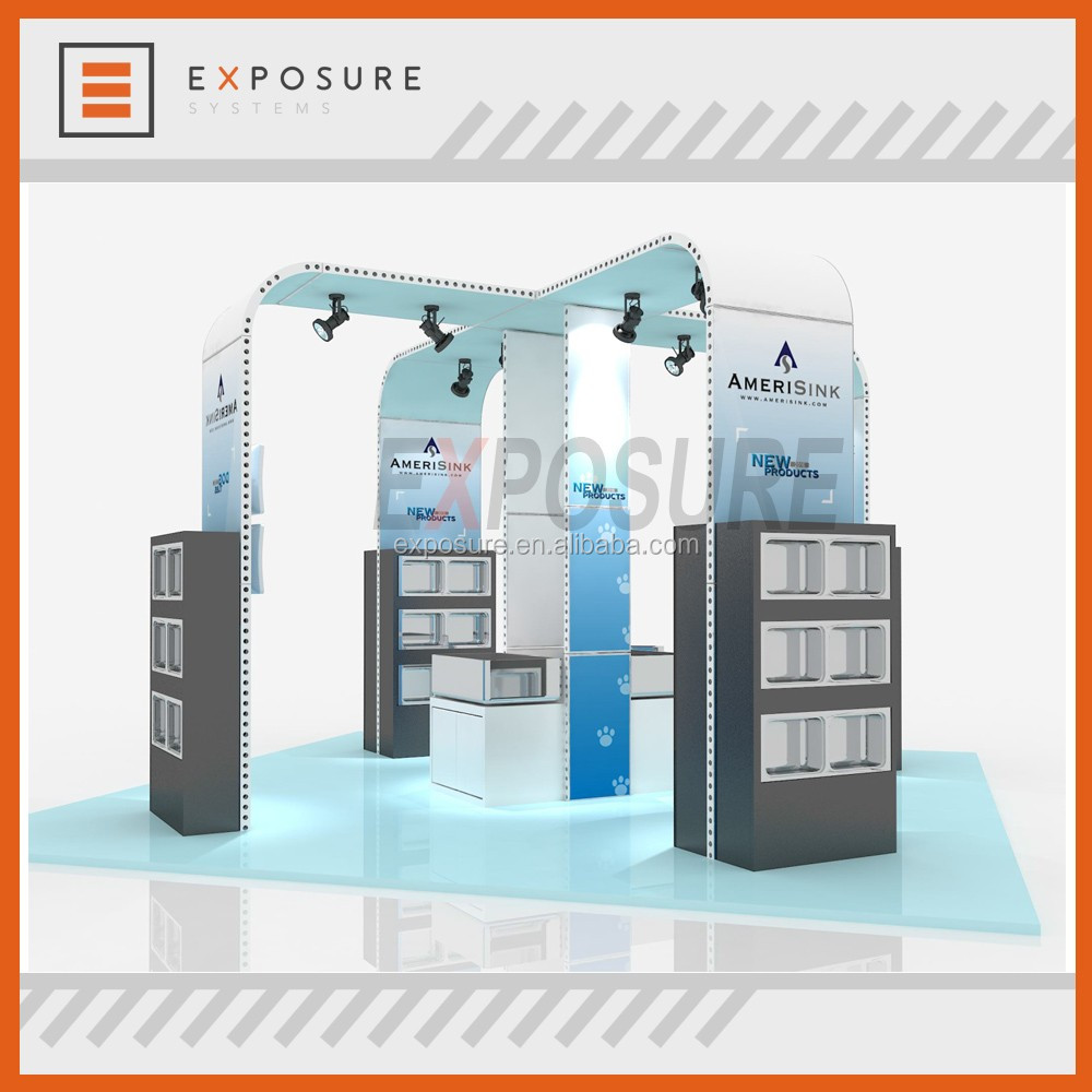 M series island modular 20ft x20ft Trade Show Exhibits Display Booth