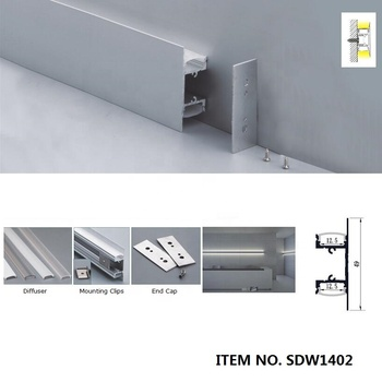 4set 1M Wall mount Up and down light Mounting Aluminum led strip profile channels for 12mm strip SDW050