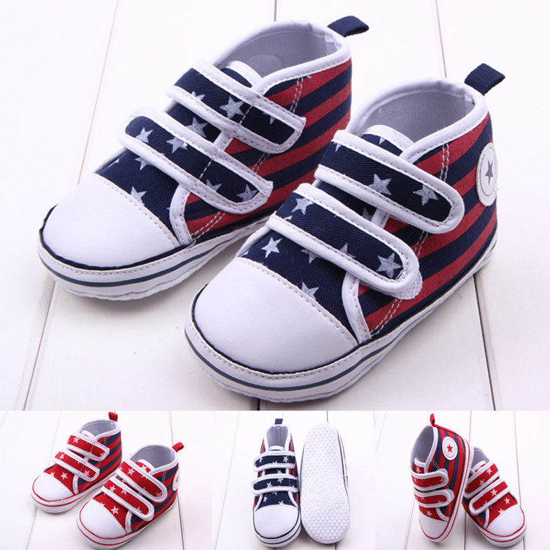 634ccea4e92780 Get Quotations · Newbron Baby Canvas Sneakers 2015 New Kids Boy Girl Casual  Star Print Striped Sport Shoes for