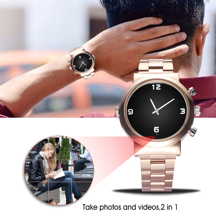 Mewah 1080P Lancar Video CCTV Wireless Spycam Watch Tahan Air Mini Kamera Tersembunyi DVR