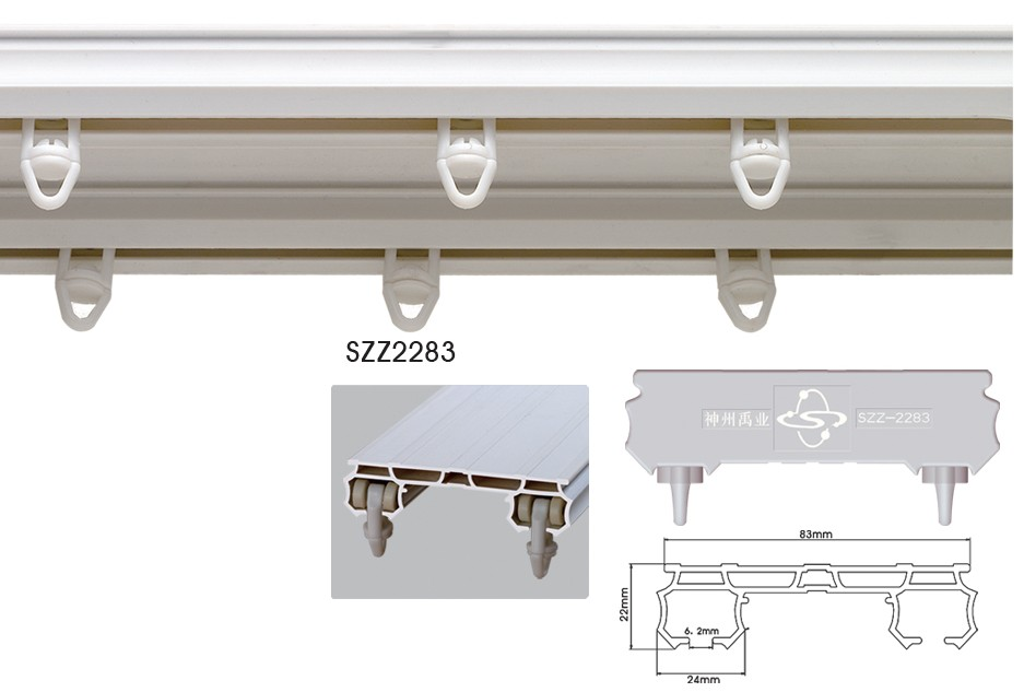 Single Or Double Flexible Curtain Track Gliders Plastic
