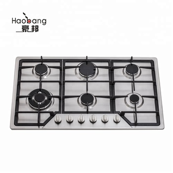 JH5101 Stainless steel Built-In 5 burners cooking kitchen range,cooker units/gas stove/oven with tempered glass