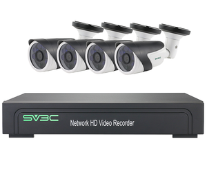 4 Channel H.265 NVR POE HD 1080P CCTV IP Cameras Kits 4CH NVR Kit Security Camera System