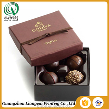 Custom chocolate paper box for gift fancy paper chocolate gift packaging box