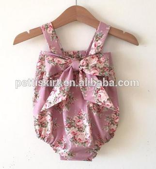 69051b46c Retao newborn big bow romper baby girls off shoulder cute playsuit one  piece clothes