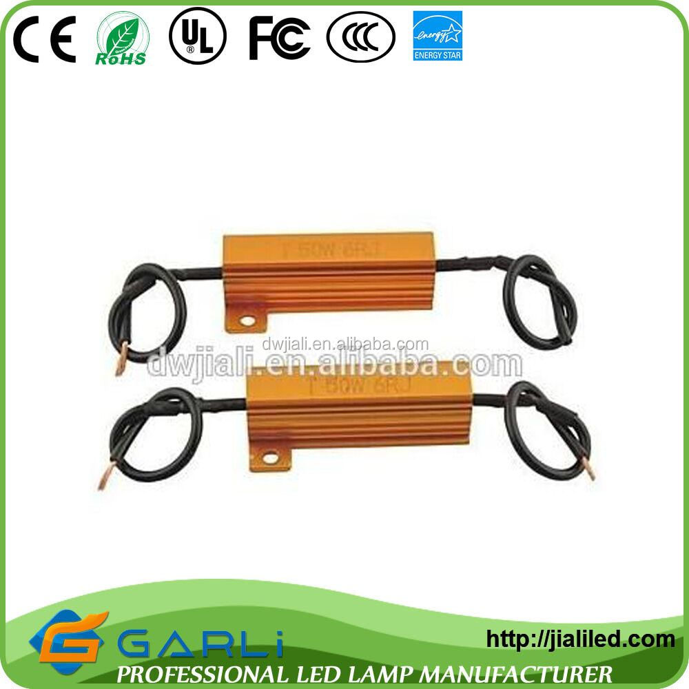distributors agents required 50W 6Ohm 6RJ 12V DC for turn light led Load Decoding Resistors 9005 9006 hb3 hb4