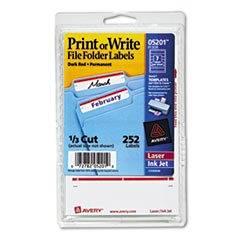 """Permanent File Folder Labels, Laser/InkJet, 11/16"""" x 3-7/16"""" labels, 4""""x6"""" sheets, Dark Red, Permanent, 7-up, 36-sheets, 252/PK"""