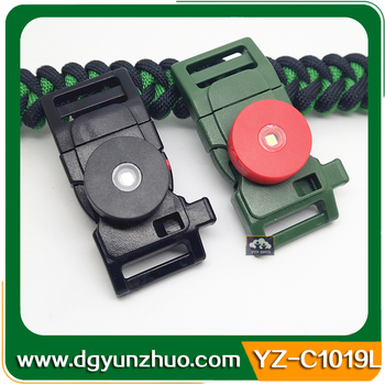Black Whistle Buckles With Led Light - Buy High Quality Whistle Buckles  With Led Light,Led Light Belt Buckle,Fire Starter Buckle With Led Light