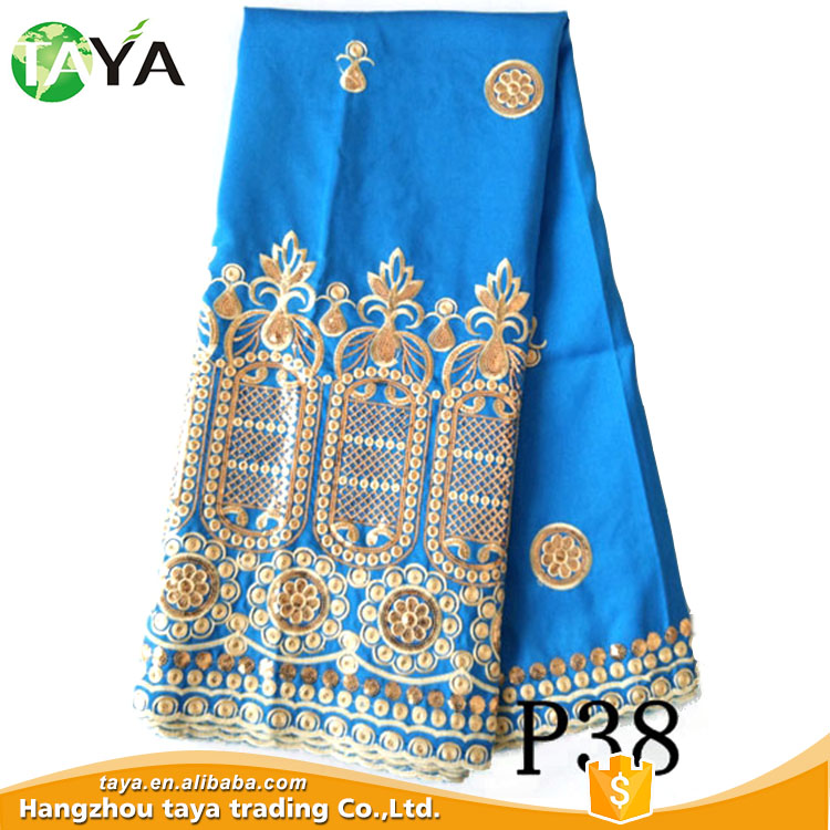 Promotional Reasonable Price Royal Blue Embroidery Lace
