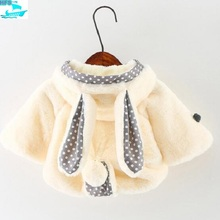 CO034 Baby Girl Extra Heavy Coat Baby Princess Fur Coat