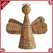 Latest angle shape gift or home decoration items natural straw handcraft