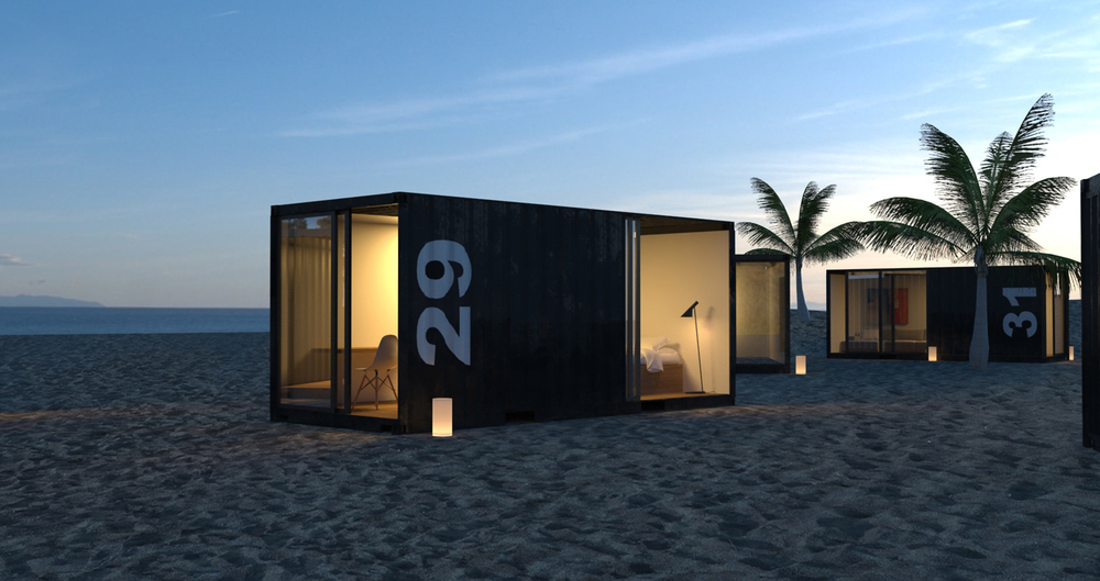 China supplier steel structure house prefabricated for Beach box house plans