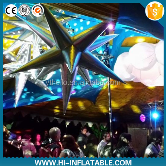 Hot-sale air blown star balloon for christmas halloween decoration