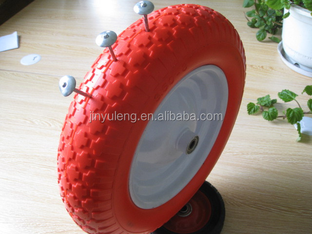 high quality 10x300-4 pu wheel for food trolley,wheel barrow,toy car