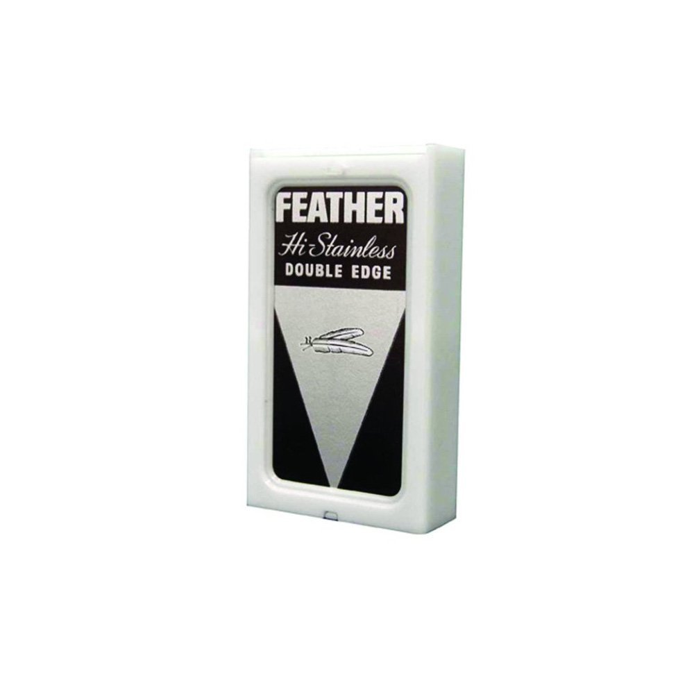 Feather Hi-Stainless Platinum Double Edge Razor Blades, 100 Count by Feather