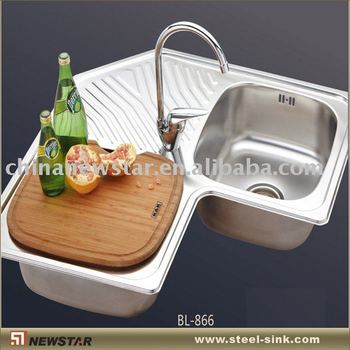 Stainless Steel Corner Sink For Kitchen Cabinet - Buy Stainless Steel  Corner Sink,Kitchen Sinks,Stainless Steel Sinks Product on Alibaba.com