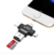 4 in 1 USB2.0 OTG Type-C Memory Card Reader Mirco SD Card Reader Adapter OTG Card Reader for iphone Android