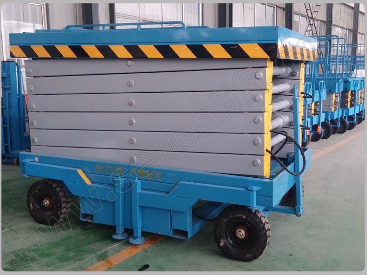 7lsjy Shandong Sevenlift Portable Upright Hydraulic 20 Meter Scissor ...