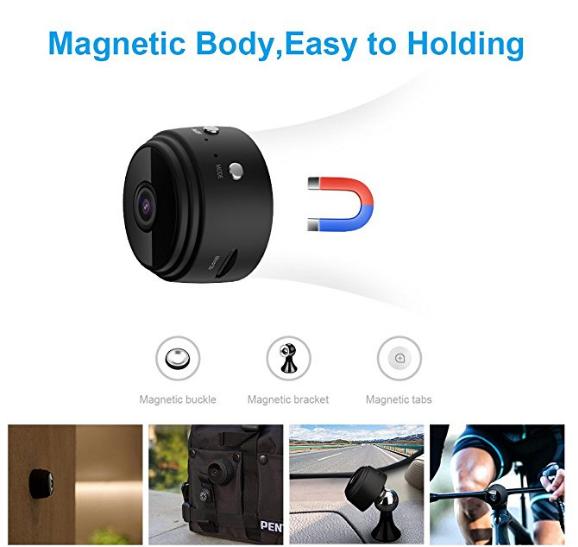 2018 Full HD mini CCTV wifi ip casus gizli kablosuz kamera A9 aobo