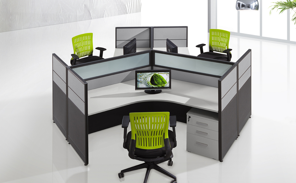 Cf office work desk modular call center workstation design for Center table design for office