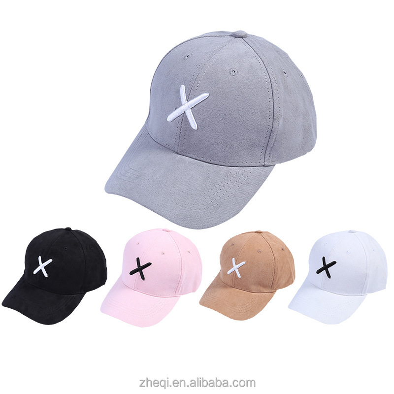 Newest Velour Fabric baseball cap 6 panel cross embroidery hat