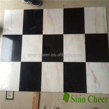 Standard Bathroom Black White Marble