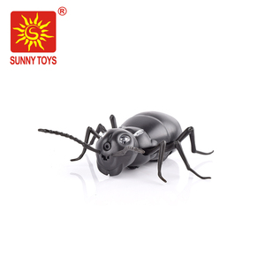 2017 hot new products black small plastic ant toy for radio control