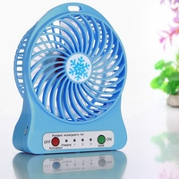 2018 Universal Portable Rechargeable LED Fan air Cooler Mini Operated Desk USB Fan for PC Laptop Computer