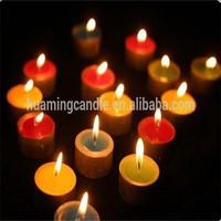 funny color flame tea light candle distributor