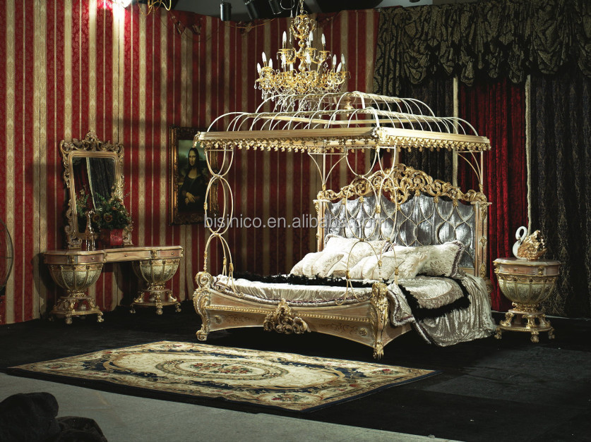 Traditional victorian luxurious eastern king size bedroom set american upholstered bedroom - Traditioneel hoofdbord ...